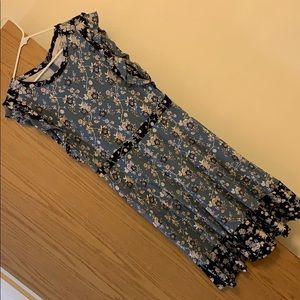 Blue and Navy Floral Loft dress! Size 16